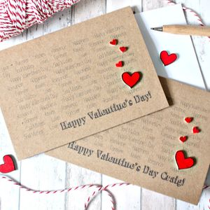 Personalised Valentine's Day Card With Love Hearts