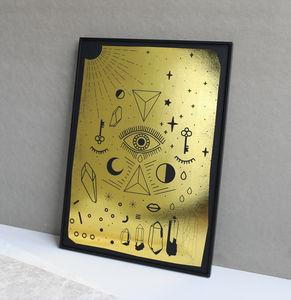 Metallic All Seeing Eye Print