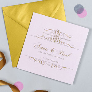 Posh Pineapple Wedding Invitation