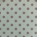 Garden Green Grey Wipeable Fabric By The Metre