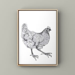A4 Art Print Featuring A Hen Illustration