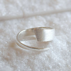 Sterling Silver Contemporary Wrap Ring - rings