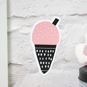 Small Pink Ice Cream Wall Sticker - wall stickers