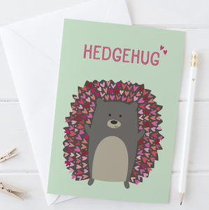 Cute Hedgehog Thank You Card / Love Card
