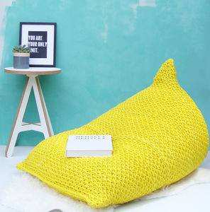 Hand Knitted Wedge Bean Bag - brand new sellers
