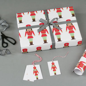 Nutcracker Christmas Wrapping Paper - cards & wrap