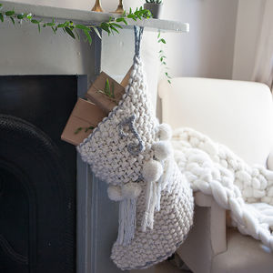 Personalised Chunky Knit Christmas Stocking - stockings & sacks