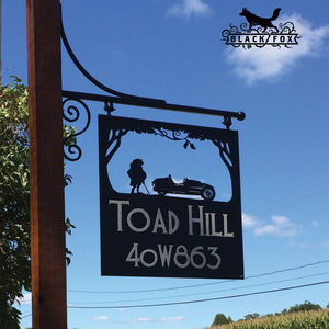 Mr Toad Swinging Sign