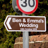 Personalised Wedding Sign - home