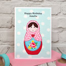 Large A5 personalised childrens birthday card by Jenny Arnott Cards and Gifts
