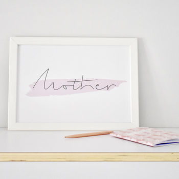 'Mother' Contemporary Typography Print