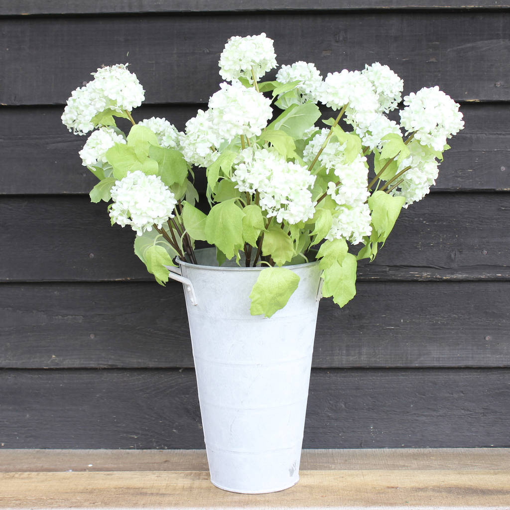Artificial Snowball Flower Stem By Lime Tree London