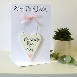 Personalised 3rd Birthday Card