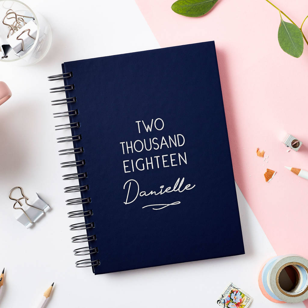 Personalised Classic 2018 Weekly Diary