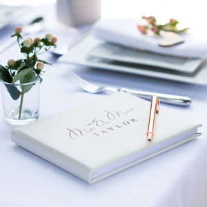 Mr And Mrs Guest Book - wedding planning ideas