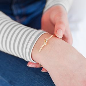 Personalised Knot Cuff Bangle - gifts for friends