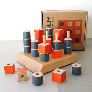 3D Wooden Tic Tac Toe Game - traditional toys & games