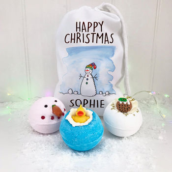 Personalised Bath Bomb Gift Bag