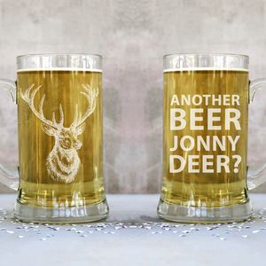 Personalised 'Deer' Giant Two Pint Tankard - glassware