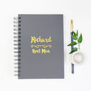 Personalised Best Man Foiled Notebook
