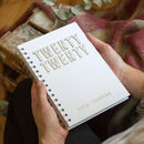 Personalised 2020 Silver Foil Weekly Diary