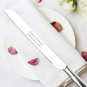 Personalised Wedding Heart Cake Knife - personalised wedding gifts