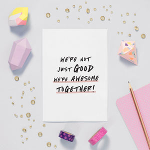 We're Awesome Valentines Anniversary Card - shop by category