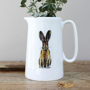 Hare One Pint Fine Bone China Jug - crockery & chinaware