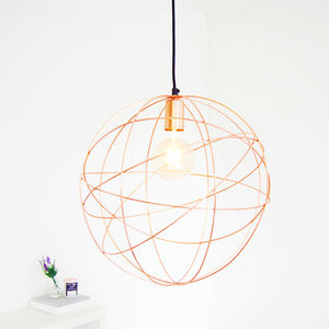 Rose Gold Copper Globe Ceiling Pendant Light Chandelier