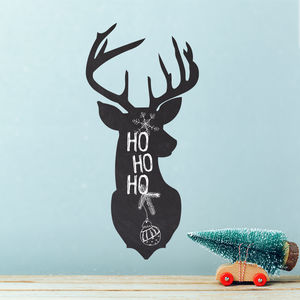 Write And Erase Christmas Stag Dear Head Wall Sticker