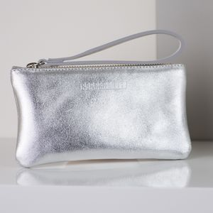 Personalised Metallic Leather Purse With Satin Lining - new season accessories