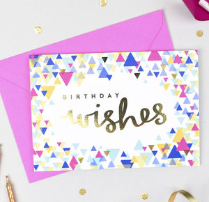 'Birthday Wishes' Confetti Card