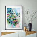 Abstract Art Print Modern Vibrant Framed Artwork