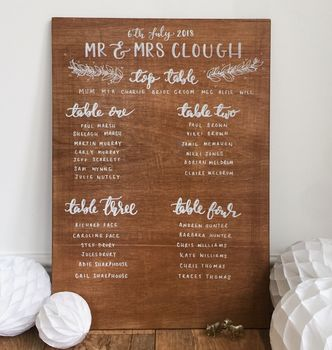 Personalised Wooden Table Plan