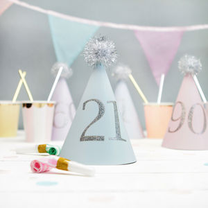 Any Age Pastel Party Hats