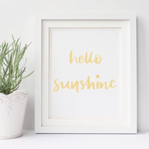 Hello Sunshine Print - posters & prints