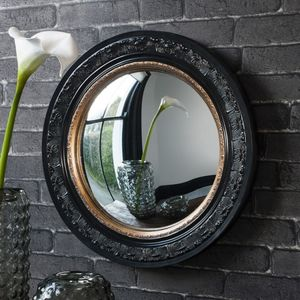 Black And Gold Porthole Mirror