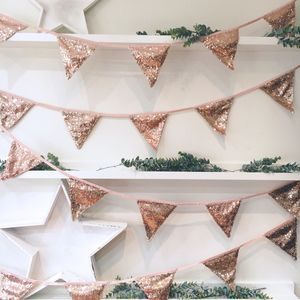Christmas Sequin Bunting - bunting & garlands