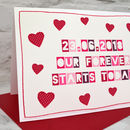 Large A5 sized wedding day card for your new husband or wife, handmade by Jenny Arnott Cards
