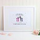 Wedding Edition Personalised Welly Boot Print