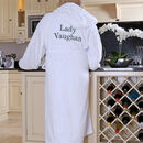 Personalised Cotton Hooded Bathrobe