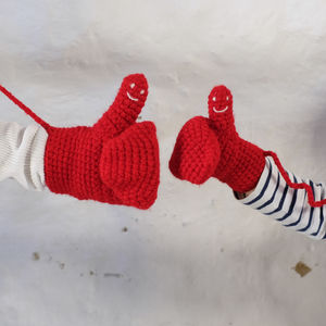 Mummy And Me Handmade Hidden Message Mitten Set