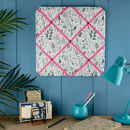 Floral Fabric Notice Board