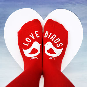 Personalised Love Bird Socks - socks