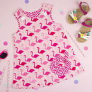 Girls Flamingo Print Summer Dress