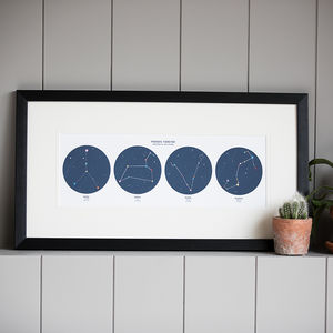 Personalised Constellation Star Sign Family Print - best gifts for her