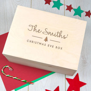 Personalised Large Christmas Eve Box For Family - children's room