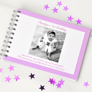 Personalised 1st Birthday Book - photo albums