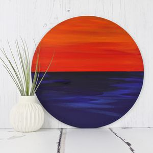 Bespoke Circular Modern Painting Sunset - modern & abstract