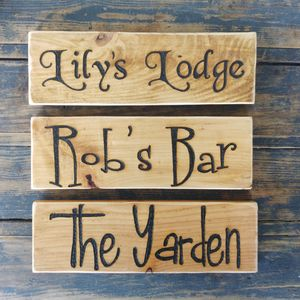 Personalised Vintage Wood Signs - art & decorations